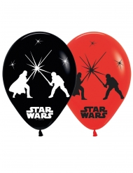 5 Globos de látex LED Star Wars™ 28 cm