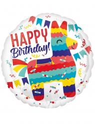 Globo aluminio Happy Birthday llama 43 cm