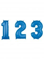 Globo aluminio número azul 43 x 66 cm