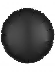 Globo aluminio redondo satinado negro 43 cm