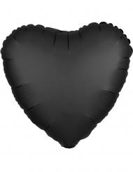Globo aluminio corazón satinado negro 43 cm