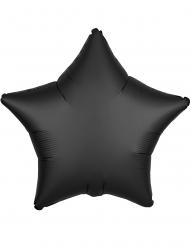 Globo aluminio estrella satinada negro 43 cm