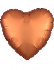 Globo aluminio corazón cobre satinado 43 cm