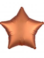 Globo aluminio estrella satinada cobre 43 cm