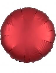 Globo aluminio redondo satinado rubí 43 cm