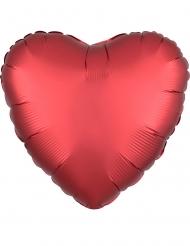 Globo aluminio corazón rojo rubí satinado 43 cm