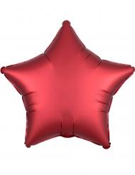 Globo aluminio estrella satinada rubí 43 cm