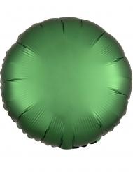 Globo aluminio redondo satinado verde esmeralda 43 cm
