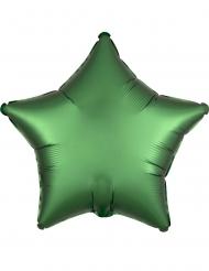 Globo aluminio estrella satinada esmeralda 43 cm