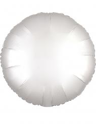Globo aluminio redondo satinado blanco 43 cm