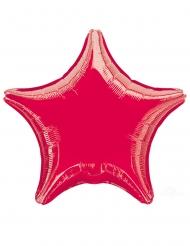 Globo aluminio estrella roja 43 cm