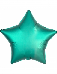 Globo aluminio estrella verde menta 43 cm