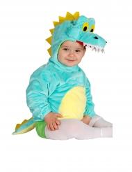 Disfraz túnica con capucha cocodrilo bebé