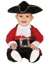 Disfraz mono pirata rojo para bebé