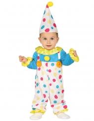 Disfraz mono payaso a lunares bebé