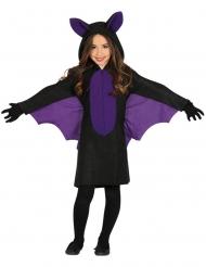 Disfraz murciélago negro y morado niña