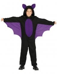 Disfraz mono murciélago negro/morado niño