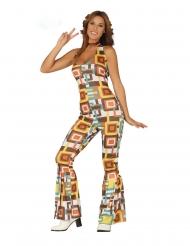 Disfraz traje disco geométrico mujer
