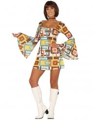 Disfraz vestido disco geométrico mujer