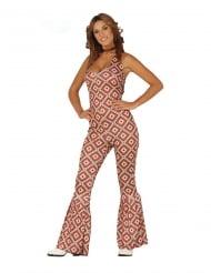 Disfraz traje disco con rombos mujer