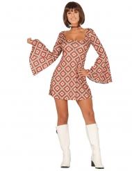 Disfraz vestido disco rombos mujer