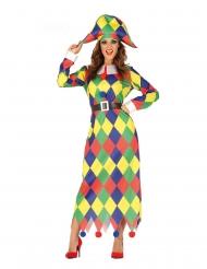 Disfraz Arlequín multicolor mujer