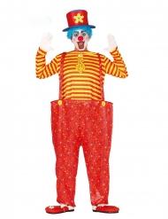 Disfraz payaso multicolor hombre
