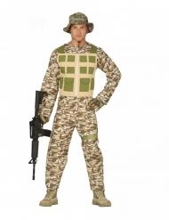 Disfra soldado del desierto hombre
