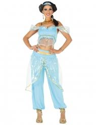 Disfraz princesa oriental azul mujer