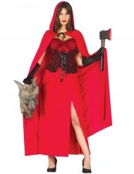 Disfraz asesina del lobo rojo mujer
