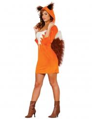 Disfraz vestido zorro mujer