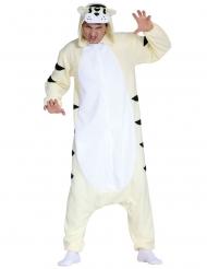 Disfraz traje tigre blanco adulto