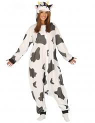Disfraz vaca blanco y negro adulto