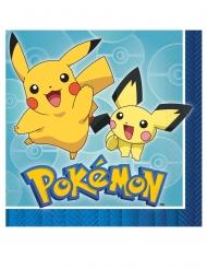 16 Servilletas de papel Pokémon Core™ 33 x 33 cm