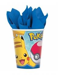 8 Vasos de cartón Pokemon Core™ 266 ml