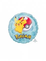 Globo pequeño aluminio redondo Pokemon™ 23 cm
