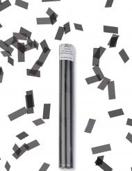 Cañón de confeti rectangular negro