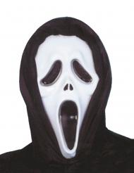 Máscara negro y blanco plástico asesino psicópata adulto