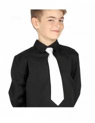 Corbata blanca niño 30 cms