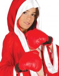 Guantes de boxeo rojos niño