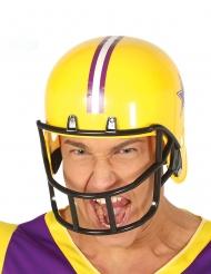 Casco de fútbol americano amarillo adulto