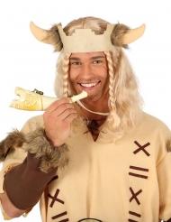 Cuerno de vaca blanco vikingo adulto 24 cm