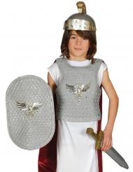 Set soldado romano plateado niño