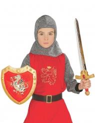 Set escudo y espada caballero rojo niño
