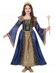 Disfraz reina medieval invierno niña