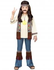 Disfraz hippie peace marrón niño