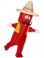 Disfraz inflable pimiento mejicano adulto