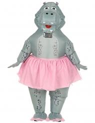 Disfraz inflable hippo bailarina adulto