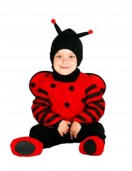 Disfraz traje mariquita con capucha bebé