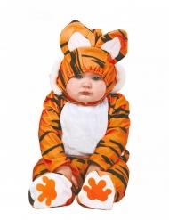 Disfraz completo de tigre naranja y negro para bebé